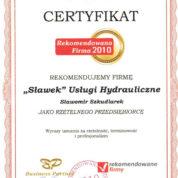 Rekomendowana Firma 2010